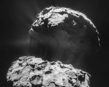 El cometa 67P desde la sonda Rosetta