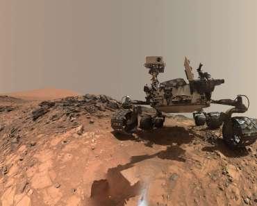 El rover Curiosity de la NASA en la duna Namib (vista de 360º)