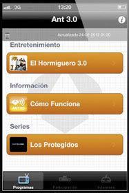 ANT3.0, aplicacion ANT3.0