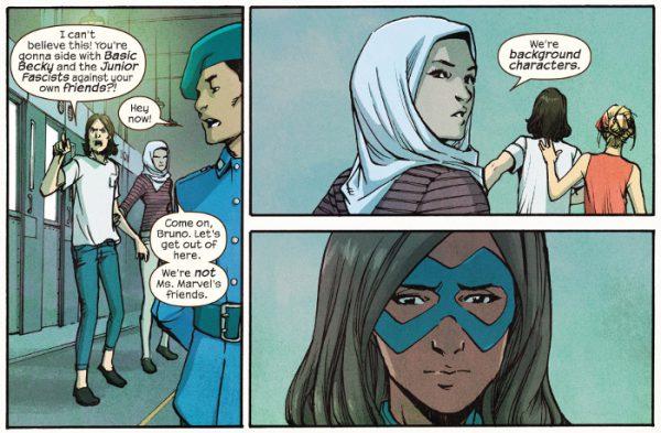 """""""Vámonos Bruno, no somos los amigos de Ms Marvel. Solo somos figurantes"""""""