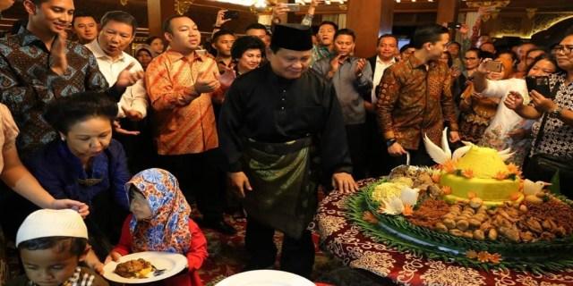 Ulang Tahun, Prabowo fokus untuk mengumpulkan bantuan ke daerah bencana