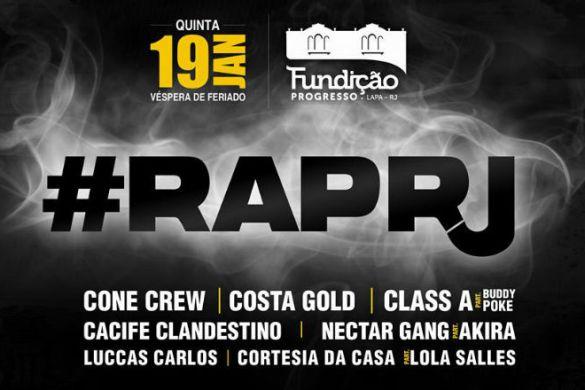6ª Edição do Rap RJ acontece nesta quinta, dia 19