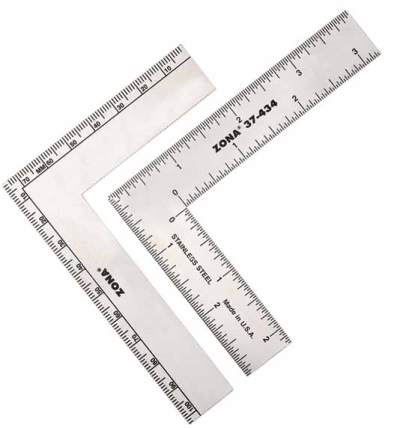 "37 434 - 37-434 L-square Ruler 3"" x 4""  37-434 L-square Ruler 3"" x 4"" - hobby-knives-blades-and-mini-steel-rulers, hand-tools"