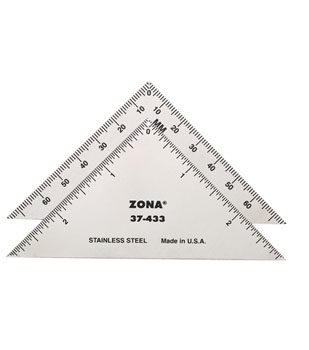 """blades and rullerstriangle ruller - 3"""" Triangle Ruler 37-433  3"""" Triangle Ruler 37-433 - hobby-knives-blades-and-mini-steel-rulers, hand-tools"""