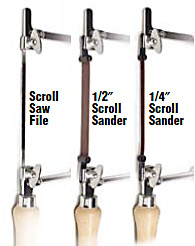 ScrollSanders and Files for Jeweler's Saws
