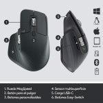 Logitech MX Master 3 Advanced Ratón Inalámbrico, Receptor USB, Bluetooth, 2.4GHz, Desplazamiento Rápido, Seguimiento 4K DPI en Cualquier Superficie, 7 Botones, Recarcable, PC, Mac, iPadOS, Negro6