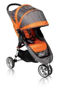 Baby Jogger Poussette City Mini 3 Roues Orange/Gris
