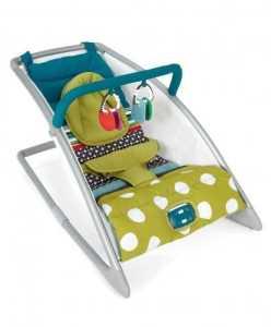 Mamas & Papas Go Go Rocking Cradle (Carousel Lime)