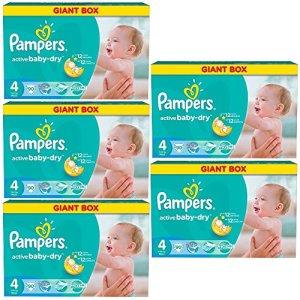 'Pampers Baby Dry Maxi Taille «4ACTIVE 7-14kg jusqu'à Lot de 540