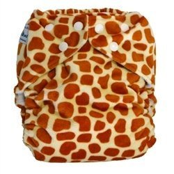 Fuzzibunz One Size Elite Cloth Diapers (Minky Giraffe (Limited)) by Fuzzibunz (English Manual)