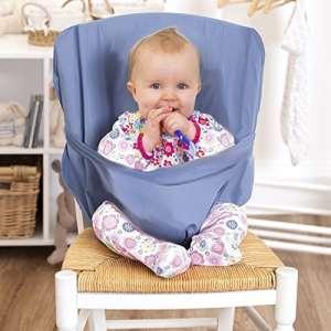 Chaise haute bébé | Chaise de voyage bébé pliable | Idéal pour manger dehors et les jours fériés | pratique et ne pas occuper l'espace | Convient dans le sac | Livraison couleur aléatoire – réhausseur