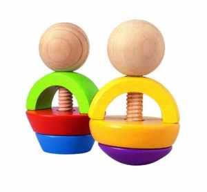 Plan Toys – Jouet Premier Age – Formes à visser en bois