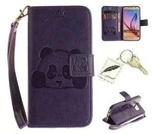 Etui Coque PU Slim Bumper pour Samsung Galaxy S6 Souple Housse de Protection Flexible Soft Case Cas Couverture Anti Choc Mince Légère Silicone Cover Bouchon -photo Frame Keychain #AM (3)