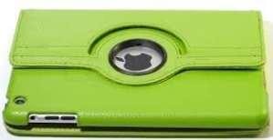 G4GADGET Étui en cuir pour Apple iPad mini Visionnement horizontal et vertical Rotation 360° Vert
