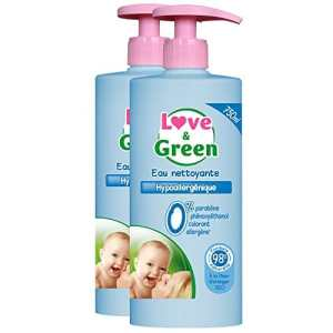 Love & Green – Eau Nettoyante Hypoallergénique 750 ml – Lot de 2