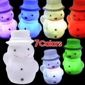 TOOGOO(R) (R) Changement de couleur de la lumiere LED bonhomme de neige Nuit