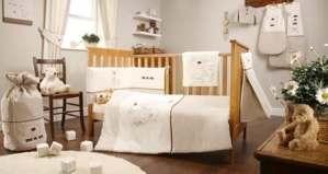 Bed-e-Byes Parure de chambre de bébé avec rideaux à ruban fronceur et couette 4TOG Coffret cadeau inclus Motif Bramble and Smudge