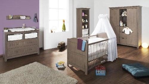 BABY PRICE New Basic Armoire Chambre B/éb/é 2 Portes avec Bouton Boule Blanc
