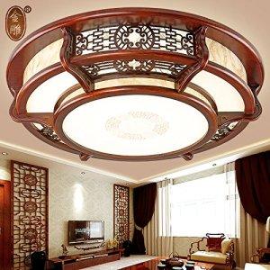 Chambre à coucher en bois massif chinois DKSJ lampe de plafond moderne Lampe de salon chinoise La chine au supermarché éclairage à LED lampe de plafond circulaire