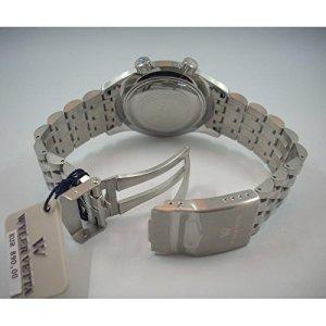 Horloge Wyler Vetta sous-marine wv0133au quartz (Batterie) acier Quandrante Noir Bracelet acier