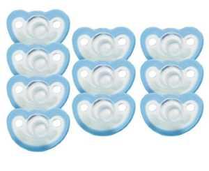 jollypop 0–3mois–Tétine Lot de 10Parfum vanille–Bleu