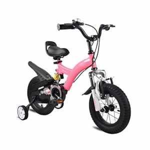 ZXC Vélo enfant, 3-6 ans Enfant bébé Poussette petite fille Vélo de montagne 14/12/16 Pouce ( Couleur : Rose , taille : 16inch )