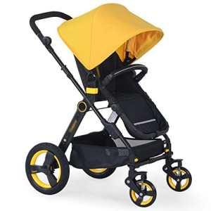 Chariot bébé Enfant Poussette poussette bébé Le paysage haut peut s'asseoir sur la poussette pliante Choc Poussette bébé pliante pour enfants ( Couleur : Le jaune )