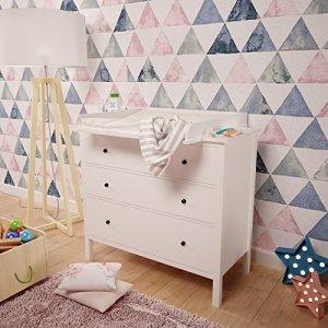 POLINI Kids à langer pour commode MALM IKEA Blanc - Zone Bébé