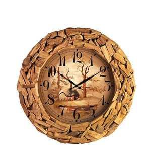 GBT Salon créatif Chambre Horloge bois / Horloge mode,A,26 pouces