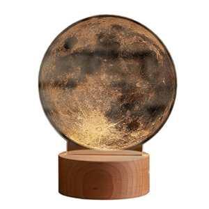 Cadeau de Noël Creative lune Night light birthday Saint Valentin la lune représente mon coeur Lampe de table ronde en résine 15 * 20 cm ( Size : Remote control15*20 cm )