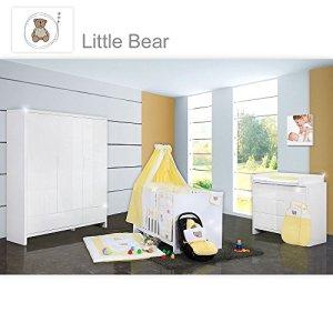 Chambre de bébé luiy brillant 20pièces avec 3türigem KL. + Textile de Little Bear, jaune