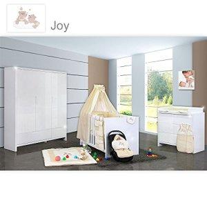 Chambre de bébé luiy brillant 20pièces avec 3türigem KL. + Textile Joy, beige