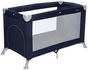 MON BEBE Lit parapluie ultra léger pliable avec matelas et sac de transport – Navy Blue