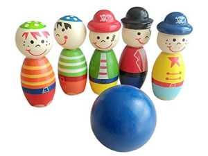 Bijoux Rarity Little Pirate enfants de bowling Jeu de bowling coloré jouet pour enfants (animaux Dessin animé Motif de bowling)