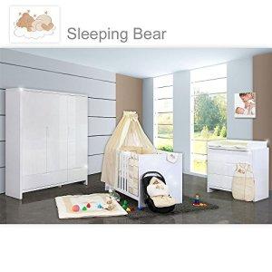 Chambre de bébé luiy brillant 20pièces avec 3türigem KL. + Sleeping Bear, beige