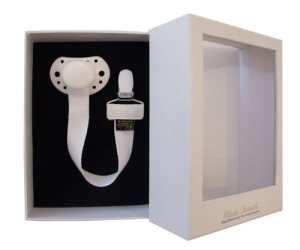 Elodie Details Sucette, Collection Exclusive, Coffret Sucette & Attache-Sucette, White Edition, Blanc