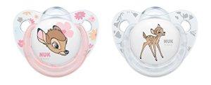 Nuk Disney Classics Trend Line Lot de 2Sucette Bambi à forme orthodontique en silicone
