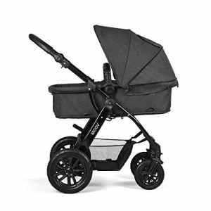 MOOV 2018 Poussette combinée 3 en 1 avec coque pour bébé (noir)