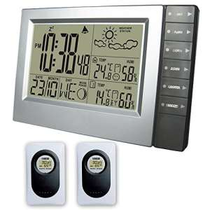 Weather Station Indoor and Outdoor Electronic Temperature Humidity Alarm Clock Wireless Sensor Hygromètre Weather Forecast