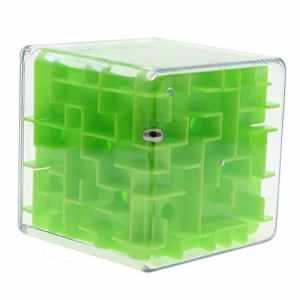 MMRM magique labyrinthe 3d Cube Magique labyrinthe juquetes Jeu de puzzle pour les enfants adultes vert