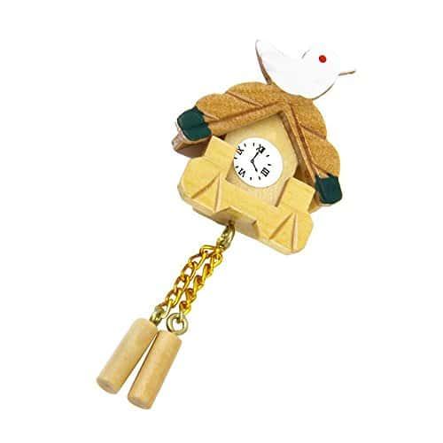 DDG EDMMS Horloge en Bois D'oiseau Miniature pour Décoration Meubles Maison De Poupée pour Décorer et Personnaliser pour Maison Chambre