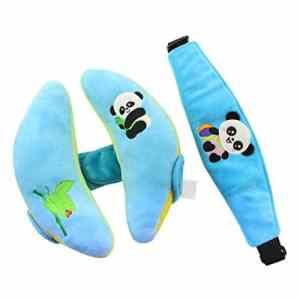 Newin Star Coussins de tête avec ceinture de sécurité pour bébé Bleu