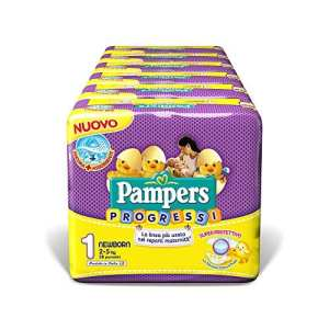 Pampers Progressi couches Newborn 6 Pacchi