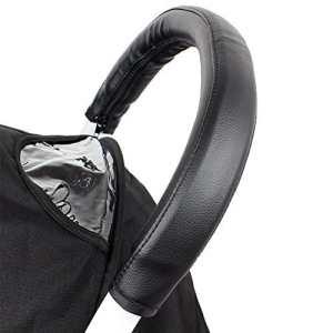 Housse universelle pour poignée de poussette, accoudoir de poussette, poignée universelle en cuir artificiel, noir