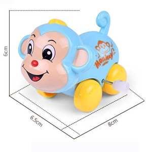 JIUZHOU en Ligne Magasin de Jouets Clockwork Funny Jouet Dessin animé Singe Poissons Arc-en-Ciel de Voiture Educational Toys