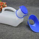 Practical Plastic Unisex Portable Mobile Urinal Toilet Car Journey Travel Male Female Handle Urine Bottle 1000ML