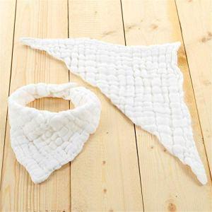 Serviette à salive pour bébé en plis à six épaisseurs plié triangle en coton lavé