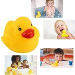 Unisexe Drôle Facile à Saisir Caoutchouc Doux Ducky Animal Jouet Sécurité Bébé Baignoire Jouet Jouet Cognitif Flottant Jouet