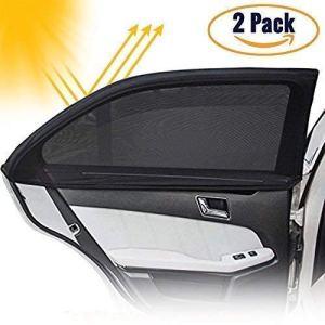 DB ZONE Pare soleil Fenêtre de Voiture pour Vitres Latérales-Protection maximal Contre Rayon de Soleil et UV pour Bébé, Enfant, Animaux-(2 pièces) -Anti chaleur-Anti éblouissement-