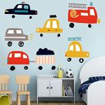 Elebeauty Dessin animé Animal Voiture Stickers Muraux Enfant Créatif Autocollants Muraux Décor pour Chambre à Coucher Amovible Vinyle Salon Maison Diy Sticker Muraux